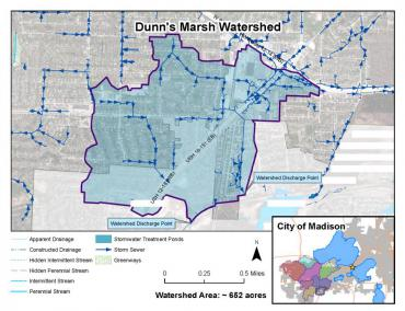 Dunn's Marsh Watershed Map