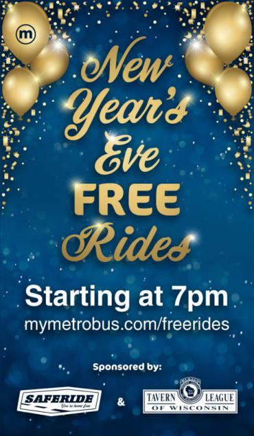 New Year's Eve Free Rides