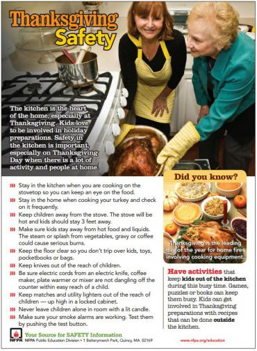NFPA Thanksgiving Safety poster