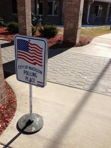 City of Madison polling place