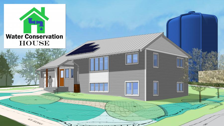 Water Conservation House design and logo